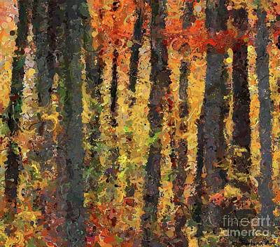Rural Scenes Digital Art - Beech Forest In Autumn by Dragica Micki Fortuna