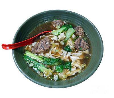 Photograph - Beef Noodle Soup by Yali Shi