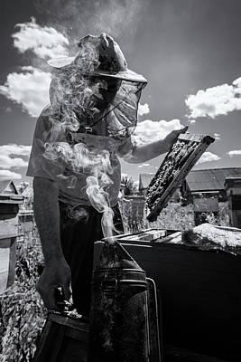 Photograph - Beekeeper Smoker And A Gentleman by John Williams