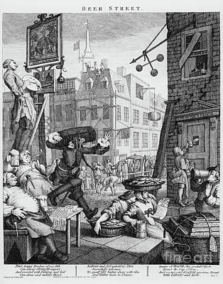 Tankard Drawing -   Beer Street by William Hogarth