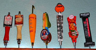 Photograph - Beer Tap Row by David Lee Thompson