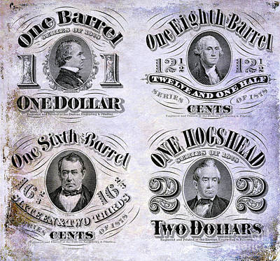 Beer Tax Stamps Circa 1878 Art Print