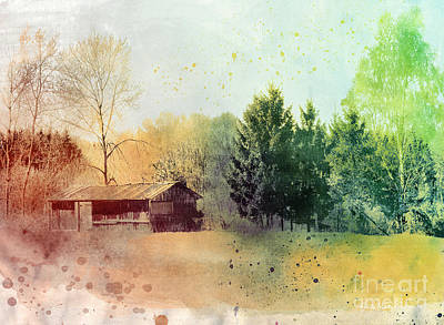 Digital Art - Behind The Village by Jutta Maria Pusl