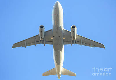 Photograph - Behind White Airplane In The Sky by Benny Marty