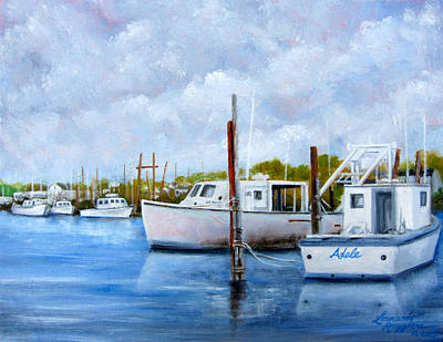 Belford Nj Fishing Port Original by Leonardo Ruggieri