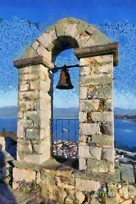 Painting - Belfry On Palamidi Castle by George Atsametakis