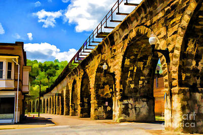 Photograph - Bellaire Aquaduct by Rick Bragan