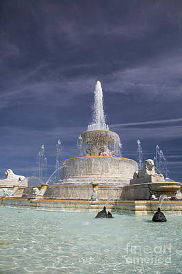 Photograph - Belle Isle Scott Fountain by Jim West
