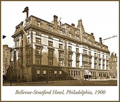 Stratford City Photograph - Bellevue-stratford Hotel, Philadelphia, C.1900, Vintage Photogra by A Gurmankin