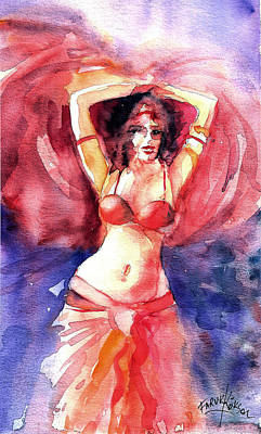 Painting - Belly Dancer... by Faruk Koksal