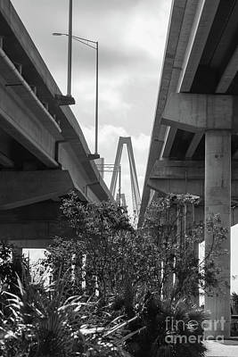 Photograph - Below Arthur Ravenel Grayscale by Jennifer White