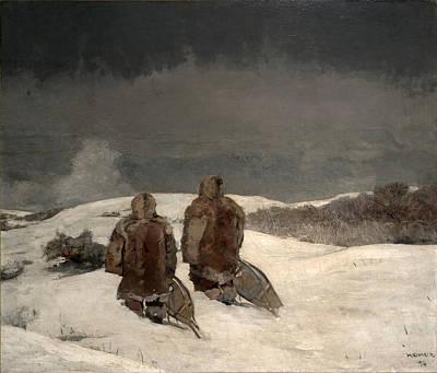 Winslow Homer Painting - Below Zero by Winslow Homer