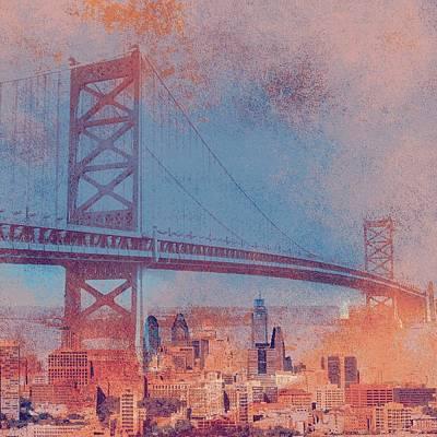 Ben Franklin Bridge Philadelphia Pa Art Print by Brandi Fitzgerald