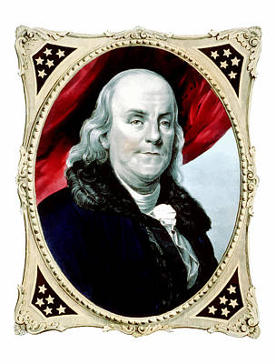 U.s Painting - Ben Franklin by War Is Hell Store