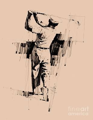 Icon Drawing - Ben Hogan by David Kilmer