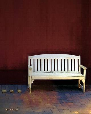 Bench By The Barn Art Print by RC deWinter