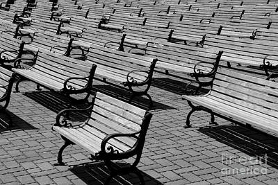 Benches Art Print by Perry Webster