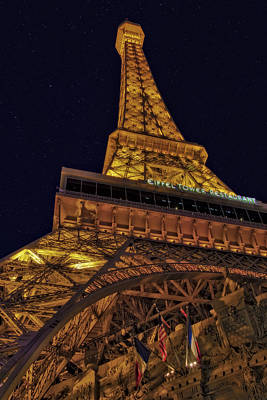Photograph - Beneath The Eiffel Tower by Susan Candelario