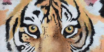 Painting - Bengal Eyes by Janet Biondi
