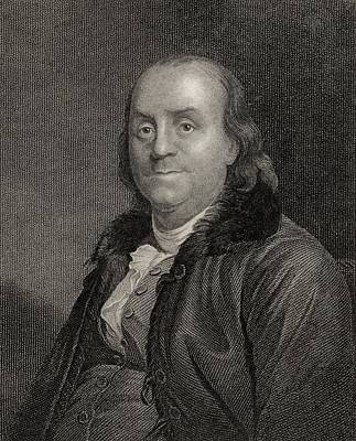 Benjamin Franklin, 1706 To 1790 Print by Vintage Design Pics