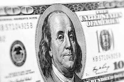 Benjamin Franklin Art Print by Les Cunliffe