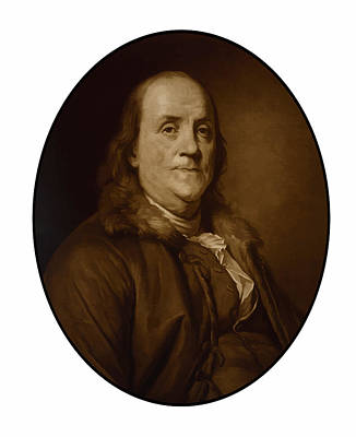 Landmarks Painting Royalty Free Images - Benjamin Franklin - Three Royalty-Free Image by War Is Hell Store