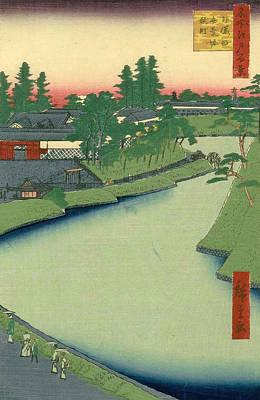 Japan Painting - Benkei Moat From Soto-sakurada To Kojimachi by Utagawa Hiroshige