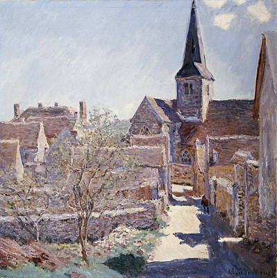 Medieval Temple Painting - Bennecourt by Claude Monet