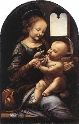 Painting - Benois Madonna by Leonardo Da Vinci