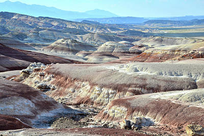 Photograph - Bentonite Clay Dunes In Cathedral Valley by Ray Mathis