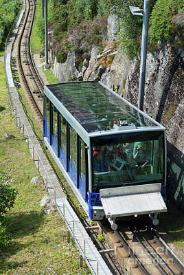 Photograph - Bergen Funicular Railway by Andrew Michael