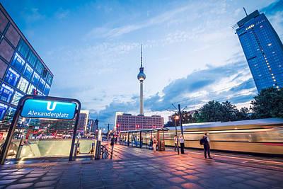 Street Photograph - Berlin - Alexanderplatz by Alexander Voss