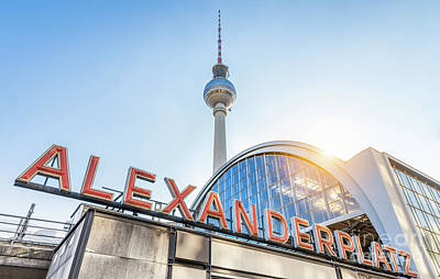 Mauer Photograph - Berlin Alexanderplatz by JR Photography