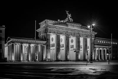 Berlin At Night - Brandenburg Gate - Brandenburger Tor Art Print
