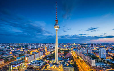 Photograph - Berlin City Lights by JR Photography