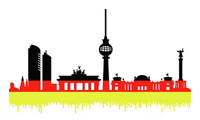 Adolf Mixed Media - Berlin Skyline by Solomon Barroa