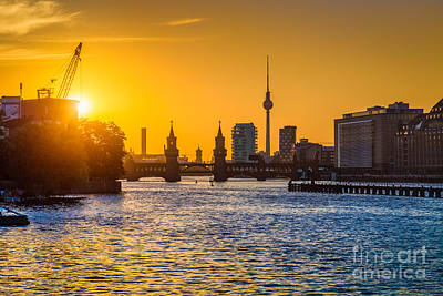 Photograph - Berlin Sunset by JR Photography