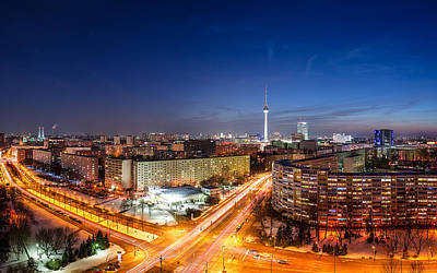 Skyline Digital Art - Berlin by Super Lovely