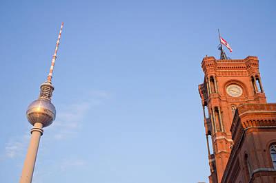 Berlin Tv Tower Art Print by Tom Gowanlock