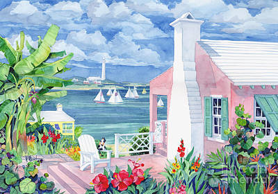 Sailing Painting - Bermuda Cove by Paul Brent