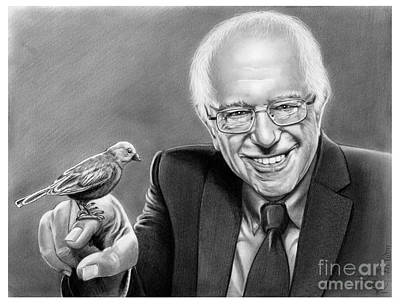 Pencil Drawing Drawing - Bernie Sanders by Murphy Elliott