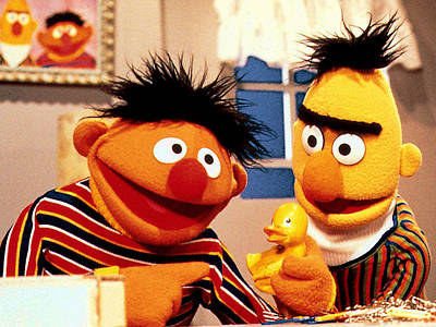 Photograph - Bert And Ernie by Sesame Street