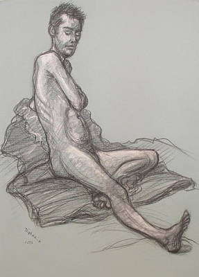 Drawing - Bert Seated by Donelli  DiMaria