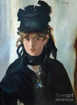 Berthe Photograph - Berthe Morisot With A Bouquet Of Violets, Berthe Morisot Au Bouq by Peter Barritt