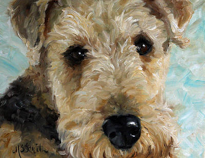 Airedale Terrier Painting - Best Friend by Mary Sparrow