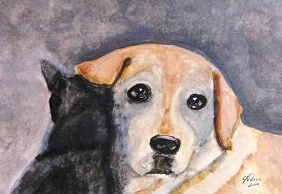 Painting - Best Friends by Angela Davies