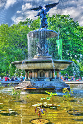 Central Park Photograph - Bethesda Fountain Angel Statue by Randy Aveille