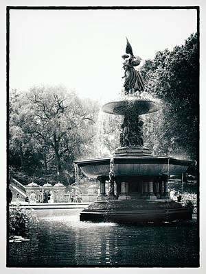 Water Fountain Digital Art - Bethesda Fountain by Jessica Jenney