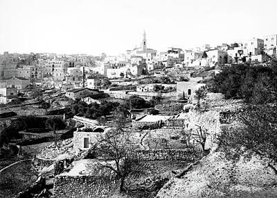 Photograph - Bethlehem City 1898 by Munir Alawi
