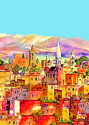 Pop Art Rights Managed Images - Bethlehem in Colors Royalty-Free Image by Munir Alawi